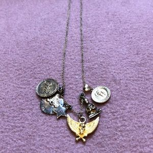 Jewelry - Long gold charm necklace